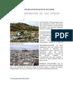 La Contaminacion de Los Suelos en El Ecuador