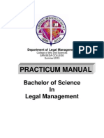 PRACTICUM MANUAL 2013 (Legal Management)