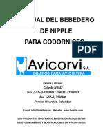 Bebedero Para Codornicesr-4000sep29