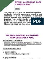 Delitos de Violencia, Desobediencia y Resistencia a La Autoridad Arreglado