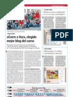 Corre a Voz Elegido Mejor Blog Del Curso.la Voz de La Escuela.29.05.2013