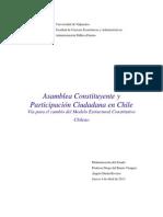 Asamblea Constituyente y Participación Ciudadana en Chile