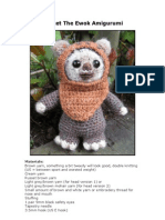 Wicket the Ewok Amigurumi crotchets toy