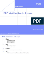 MRP Stabilization in 4 Steps
