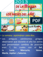 LOS DÍAS DE LA SEMANA, MESES DEL AÑO