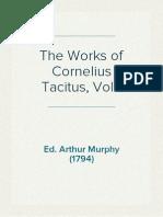 The Works of Cornelius Tacitus, Vol 1 - Ed Arthur Murphy (1794)