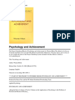 Warren Hilton - 1 Psychology and Achievement