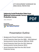 Day 3 Session 4 - Measurement of Social Protection Using Household Survey, Country Experience - Indonesia