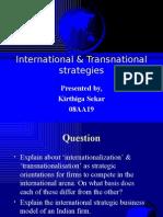 international & transnational strategies