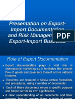 c9f0fExport-Import Documentation and Risk Management in Export-Import Business