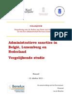 Administratieve sancties in België,  Luxemburg en Nederland