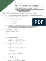 MT-CET 2013 PCM Solution - 20.04.2013