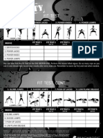 Insanity Workout Fit Test Sheet