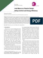 Thermal Mass Passive Design
