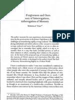 Gods Forgiveness and Memory-Volf