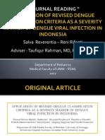 Journal Reading - Revised Dengue Classsification Criteria
