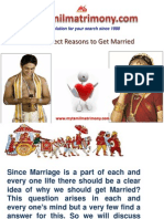 The Perfect Reasons to Get Married