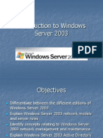 Introduction to Windows Server 2003 (1)