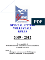 Sitting Volleyball Rules Wo Vd