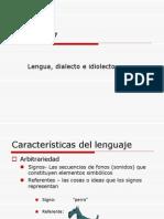 Span 317 Lengua Dialecto y Idiolecto