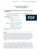 2- Comparative Data on Shild and Adolescent Cognitive Measures Associated With Depression