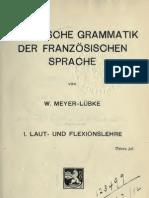 Meyer-Lübke historische grammatik Französische