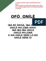 OFÓ ONÍLÈ
