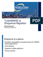 TurboIMAGE to Eloquence Migration