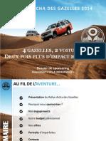 Dossier de Sponsoring Les 4 Imparfaites Rallye 2014