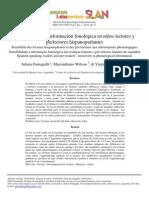Sensibilidad a la información fonológica en niños lectores y prelectores hispanohablantes