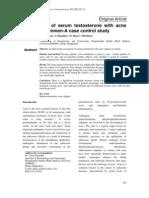 5. Original Article Serum Testosterone Levels in Acne