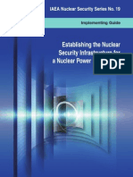 Establishing the nuclear security infrastructure for a nuclear power programme :