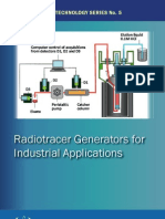 Radiotracer generators for industrial applications