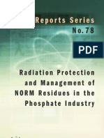 Radiation protection and management of norm residues in the phosphate