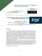 Modeling, Simulation & Dynamic Analysis of Four-bar Planar