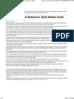Explosions Shake Damascus, Syria Blames Israel