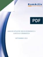 Analiza Situatiei Socio-economice a Judetului Dambovita