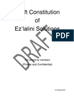 Ezlalini Solutions Draft Constitution 1
