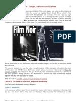 Online Course Film Noir - Danger, Darkness and Dames
