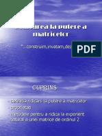 Ridicarea la putere a matricelor-Lung Florin,Pop Claudiu,Borsan Petruta.ppt