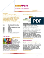 June 2013 WomansWork Notebook for Lincolnshire