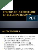 Efectos de La Corrienrte en El Cuerpo Humano