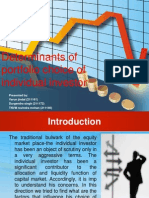 Determinants of Portfolio Choice of Individual Investor