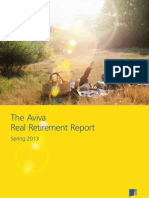 Aviva Real Retirement Report Spring 2013