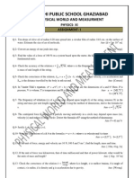 Physics Assgnment for Holiday Home Work PHYSICAL WORLD and MEASURMENT