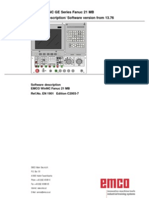 Fanuc21mb en c EMCO WinNC GE Series Fanuc | Drilling