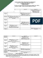Bjmc Final Date Sheet - May June 2013