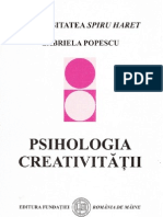 Gabriela Popescu - Psiholgia Creativitatii