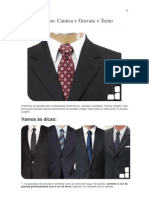 Guia Masculino Camisa Terno Gravata
