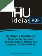 De Marx a Dukrheim-interpretação sobre as religiões brasileiras-IHU 136